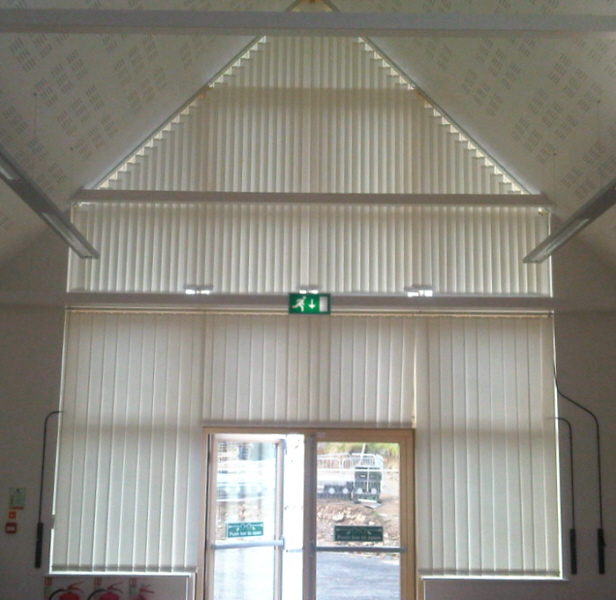 Commercial Vertical Blinds Astralux 1000 From Dearnleys
