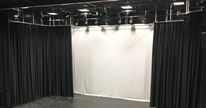 Stage Curtains and Tracks - College