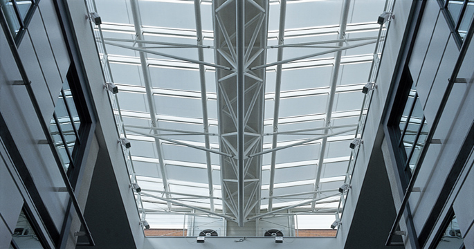 Tensioned Roof Blinds - University
